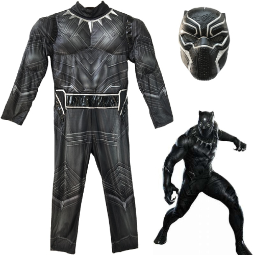 Black Panther Costume With Mask