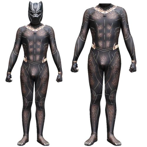 Black Panther Ainiel Cosplay Golden Costumes